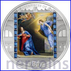 Cook Islands 2014 The Annunciation by Champaigne $20 Silver Proof Coin Christmas