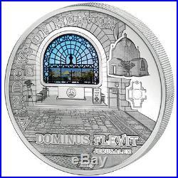 Cook Islands 2015 10$ Dominus Flevit JERUSALEM Windows Of Heaven 50g Silver Coin