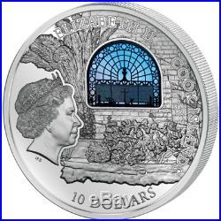 Cook Islands 2015 10$ Windows Of Heaven Jerusalem Church Dominus Flevit Coin 16