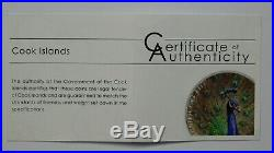 Cook Islands 2015 $5 Magnificent Life Peacock 1 Oz Silver Coin Proof Limited