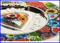 Cook Islands 2015 $5 Murrine Millefiori Glass Art 20g Silver Proof Coin Morano