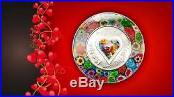Cook Islands 2015 $5 Murrine Millefiori Glass Art 20g Silver Proof Coin UNIQUE