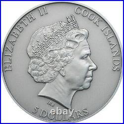 Cook Islands 2015 Chondrite Impact Meteorite 1 Oz Antique Finish Silver Coin