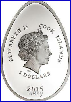 Cook Islands 2015 Imperial Egg in Cloisonné Diamond Easter 20g Silver Proof Coin