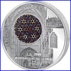 Cook Islands 2016 10$ La Seu CathedralOf Palma Windows Of Heaven Silver Coin