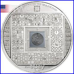 Cook Islands 2016 10$ Milestones Mankind Egyptian Labyrinth Proof Silver Coin