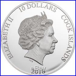 Cook Islands 2016 10$ Silver Coin The Great Tea Race 2Oz