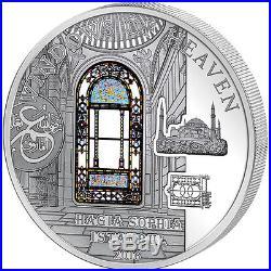 Cook Islands 2016 10$ Windows of Heaven Hagia Sophia Istanbul Silver Coin