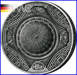 Cook Islands 2016 20$ 4 Layer St Peters Basilica 100g Antique finish Ag Coin