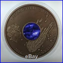 Cook Islands 2016 $20 CAMPO del CIELO Meteorite 3 Oz Silver Coin 333 pcs