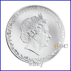 Cook Islands 2016 20$ Happy 90th Birthday Queen Elizabeth II 3oz 999 silver coin