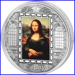 Cook Islands 2016 20$ Mona Lisa Masterpieces Of Art 3oz Proof Silver Coin