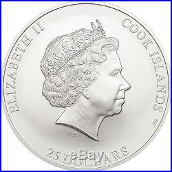 Cook Islands 2016 25$ Denali 7 Summits 5oz Proof Silver Coin