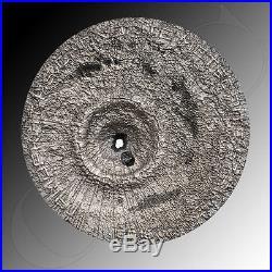 Cook Islands 2016 2$ Tamdakht Meteorite Strike. 999 fine silver coin