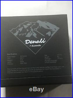 Cook Islands 2016 7 Summits Denali 25$ Silver 999 5 Oz Silver Coin