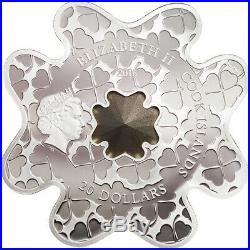 Cook Islands 2016 Lucky Shape Four-Leaf Clover Silver Luxury Line Silver Coin