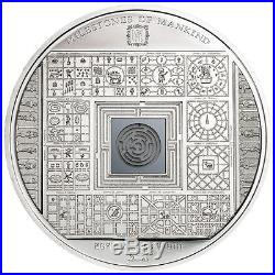 Cook Islands 2016 Milestones of Mankind Egyptian Labyrinth Proof Silver Coin