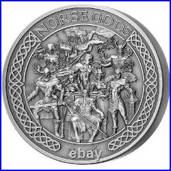 Cook Islands 2016 Norse Gods All $25 High Relief 5 Oz Silver Coin Perfect