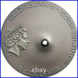 Cook Islands 2016 Tamdakht Meteorite 2$ Silver 999 1/2 Oz Silver Coin