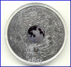 Cook Islands 2017 20$ MOON EARTH SATELLITE Meteorites 3 Oz Silver Coin