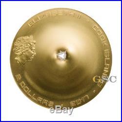 Cook Islands 2017 2$ Chergach Meteorite Strike. 999 fine silver coin