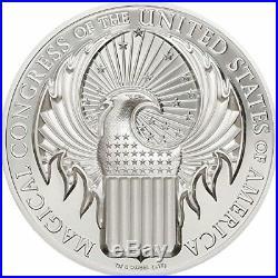 Cook Islands 2017 5$ Fantastic Beasts Macusa Magical Congress USA Silver Coin