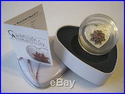 Cook Islands 2017 5$ Happy Valentine's Day 2017 20g Swarovski insert Silver Coin