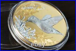 Cook Islands 2017 5$ Shades of Nature Hummingbird 25 g Silver Proof Coin