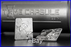 Cook Islands 2017 5$ Time Capsule. 999 Silver 1 Oz Coin Mintage 1500 Only