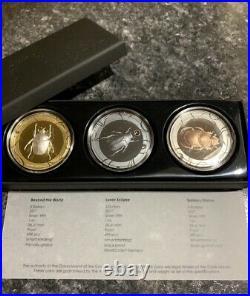 Cook Islands 2017 $5×3 Scarabs III Solar Zenith 3x1oz Silver Proof Coins Set