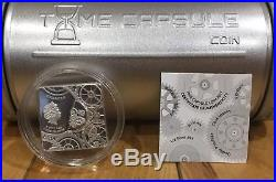 Cook Islands 2017 Time Capsule Coin Square Warped Unique $5 Silver Coin Low Mint