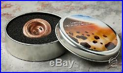 Cook Islands 2018 $2 Erfoud Meteorite 1/2 Oz 0.999 Silver Coin with COA and Box