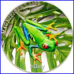 Cook Islands 2018 $5 Tree Frog 1 Oz Proof Silver Coin