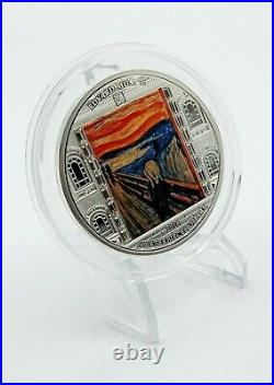 Cook Islands 2018 Masterpieces of Art Munch Scream Proof Silver Coin