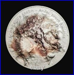 Cook Islands 2018 Seven Summits Aconcagua UHR 5 oz Silver Coin