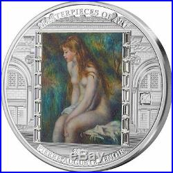 Cook Islands 2019 20$ Masterpieces of Art YOUNG GIRL BATHING 3 oz. Silver Coin