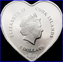 Cook Islands 2019 $5 Happy Valentine's Day 20g 999 Proof Silver Coin PRESALE