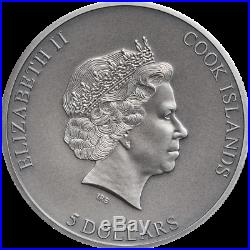 Cook Islands 2019 5$ Trapped 1 Oz Silver Antique Coin. Very low mintage