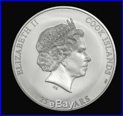 Cook Islands 2019 5 oz Silver Coin Kilimanjaro 7 Summits Series