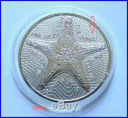 Cook Islands 2019, Silver Star, 2 x 1 oz ERROR COINS, 2 x 1 oz Regular Coins