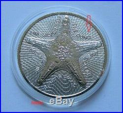Cook Islands 2019, Silver Star, 5 x 1 oz ERROR COINS, 5 x 1 oz Regular Coins