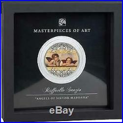 Cook Islands 2020 20$ Masterpieces of Art RAFFAELO SANZIO ANGELS 3oz Silbermünze