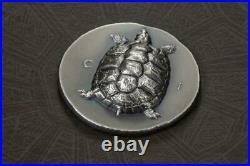 Cook Islands 2020 5$ Antique Tortoise 1 Oz Silver Antique Coin