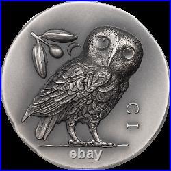 Cook Islands 2021 Owl of Athena $5 silver coin 1oz