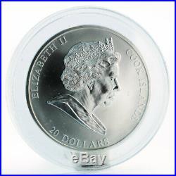 Cook Islands 20 dollars Sandro Botticelli Birth of Venus silver coin 2008