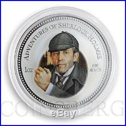 Cook Islands 2 dollars Sherlock Holmes Adventures Coloured Silver Coin 2007