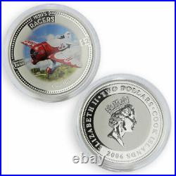 Cook Islands 2 dollars set of 5 coins Speed Jets 1930's Racers silver coin 2006