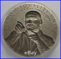 Cook Islands 2 x $5 2010 Barack Obama & Martin Luther King Silver Coin Set