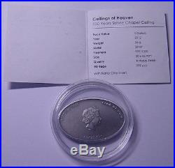 Cook Islands $5 Ceilings of Heaven-Nano Sistine Chapel Ceiling 2012 Silver coin