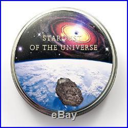 Cook Islands $5 Dollar 1 oz. Silver Coin, 2015, Chondrite Impact Meterorite, QE II